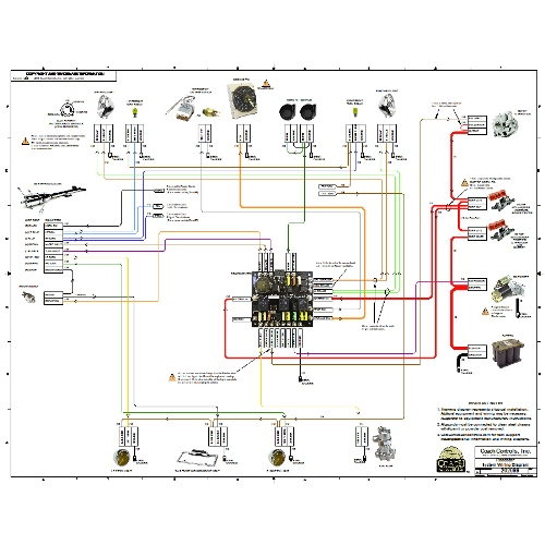 Image Of 17x22 Full Color Wiring Diagram Included With Each Wire Kit: Street Rod Wiring Harness At Motamad.org