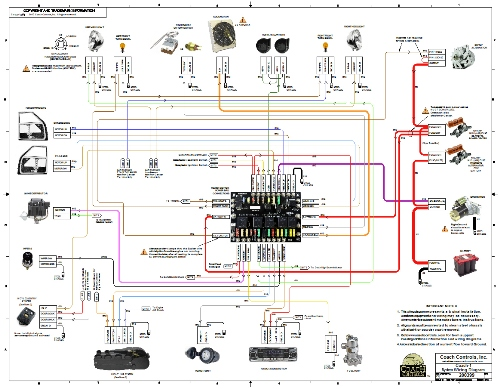 Image of 17x22 Full Color Wiring Diagram included with each Wire Kit
